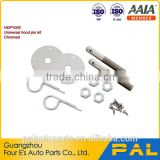 Auto Quality Hood and Deck Pins,Chrome plated finished steel, Safety Pins, Screw-On Scuff Plates Hardware hood pin kit