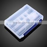 Gold Supplier transparent compartment plastic storage custom fishing tackle box