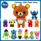 Bulk wholesale Cute Lovely Cartoon Bear Devil USB Flash Drive 8Gb 16Gb 32GB USB Storage Pen Drive Thumb Drive small Novelty gift