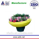 large plastic decorative flower pots/plastic plant pots wholesale/large planters outdoor