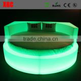 New design luxury Circle shape hotel bed hotel extra bed with 16 colors changing led light