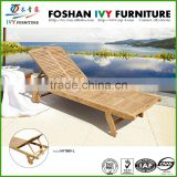 Garden furniture daybed teak wooden bed sun lounger