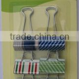 32mm color binder clip with logo printing