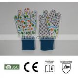 lovely pictures softtextile garden glove,kids gardening gloves