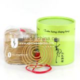 Beautiful shape coil incense made from grade A agarwood powder, woody scent, long lasting