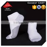 Wholesale custom technical plain knitting lycra silver cotton blend yarn men sport socks