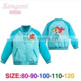 Wholesale baby girls blue beauty fish cartoon hoodies children sweatshirts