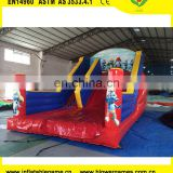 inflatable smurfs dry slide on promotion and available 8x5x7m