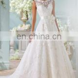 Floral Lace latest white fancy stylish Wedding Gown