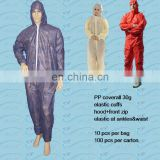 hot selling disposable nonwoven PP coverall