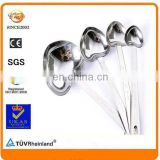 custom different sizes zinc alloy heart love shape silver souvenir spoon