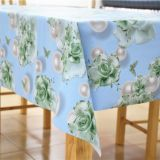 Impermeable PVC laminated with 100% cotton back table linen,soft textile with 137cm*20m/roll