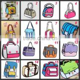 latest design bulk 3d cartoon handbags for ladies