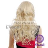Fashion ladies long curly hair inclined bang fleeciness and big waves wig
