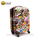 Wholesale fashion colorful ABS material luggage bag