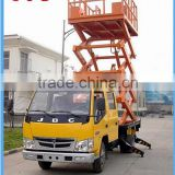 factory price truck mounted hydraulic aerial work platform scissor lift