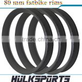 2016 Carbon Bike Kits 26er 80 mm wide carbon rims 26'' 80 mm fatbike rims mountain bike carbon rims for sale