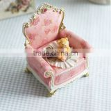 AN470 ANPHY European Style Birthday Gift Decoration Little Bear Sofa Jewelry Box Resin Stand Holder Display Stock 10*7.5*12.5cm