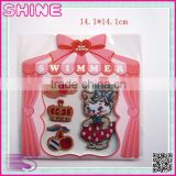 Factory Outlets Cherry Kitty Combination Suit Patch, Ironed and Sewn Children Embroidery Patch