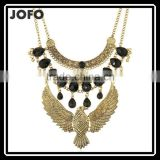 Vintage Ethnic Alloy Eagle Pendant New Long Chain Bead Necklace For Women