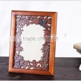 Wooden cheap small picture frames,Shabby chic home decor manufacturer,large round wall picture frames of european style