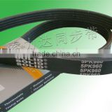 ribbed Belt/polyster/nylon belts/auto timing belt/synchronous belt/ribbed belt/raw edge v belt