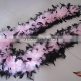 Wholesale Feather Products Suppliers 80G Chandelle Feather Boa Scarf Dyed Black Tip
