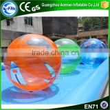 2016 Hot customized colorful walk on water plastic ball,inflatable water rolling ball