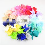 grosgrain ribbon silk bow with hair clips in 27colors - cheap children girl hair accessories handmade bowknots