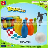 Plastic 6 inch bowling ball toy set for kids