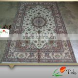 "4""X6"" Handmade Wool Rug Hand Knotted Wool Carpet Persian Wool Rug For Home, Hotel, Prayer Use"