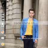 New Fashion Royal Blue One Button Slim Fit Design 100%polyester fabric Blazer Jacket Business Man Suit