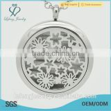 New design Silver color magnetic Perfume locket wholesale 316L Stainless Steel Purfume floating locket Pendant