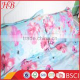 Microfiber printed bedding set, home and hotel used bedding set,flower print 3 pcs bedding set