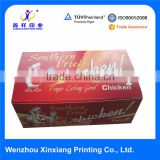 Custom disposable food packaging Fried Chicken box for take away