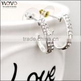 Fashionable jewelry 925 silver plated jewelry wholesale simple fashion earring designs for women