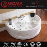 2 persons hot sale pet tub acrylic bath tub with brass faucet sets