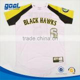 100%polyester custom sublimation boys baseball t shirt with free shipping