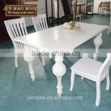 Dining Table In Wood Modern Design,Dining Table and Chair Set,Modern White Dining Table Sets