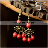 Decorative Dangle Earrings Alloy Red Stone Fashion Gifts