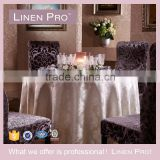 LinenPro Stock Durable Sequins Gold Round Tablecloth for Wedding