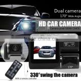Dual Lens Camcorder i1000 Auto Car DVR Dual Camera HD 1080P Dash Cam Black Box Driving Recorder With Parking Rear lens Cameras                                                                         Quality Choice