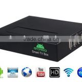 android xbmc 3d media player tv box ,supports most popular formats of vedio audio and pictures and VGA output