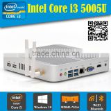 Cheapest i3 android mini pc Intel core i3-5005U 2.0GHZ 4COM 2HDMI Intel HD5500 1080P HD4K dual DDR3 laptop memory