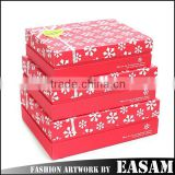 Merry christmas snowflake printed rectangle 3 sizes christmas gift box
