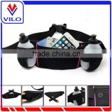 Wholesale Custom Logo Top Hydration Belt Outdoor Sports Waterproof Running Belt With 2 Bottles Waist Bag