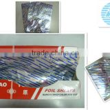 9mic-30mic aluminium pop up food packing foil in color box packing without anti -dumping to EU