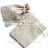 Natural Hemp Bag with ties, Simple Jewelry Small Gift Packaging Pouches 8.5cm*11.5cm