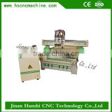 imported components cnc router HS-A1325 wood shaper cnc router with three independent spindles