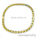 wholesale gold tone top quality 316l stainless steel men neck chain